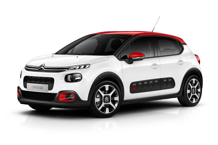 Citroen C3 Hatch 5Dr 1.5 BlueHDi 100PS Flair Plus 5Dr Manual [Start Stop] front view